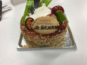 浜野先生のお祝いケーキ