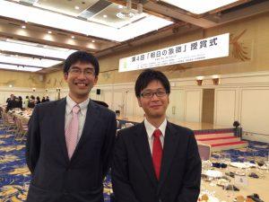 吉本先生とともに会場で撮影